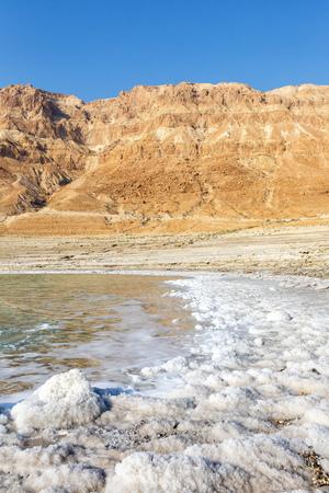 Dead Sea Israel landscape nature portrait format vacation holidays Stockfoto