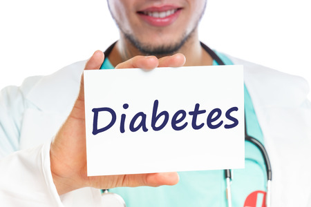 Diabetes sugar disease doctor ill illness healthy health with sign