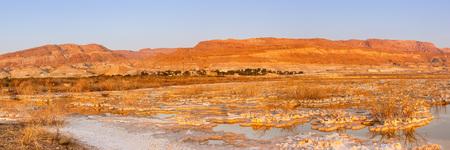 Dead Sea Panorama Israel sunrise morning landscape nature vacation holidays Stockfoto