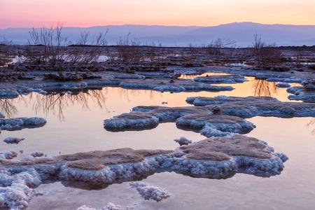 Dead Sea Israel sunrise morning salt landscape nature vacation holidays
