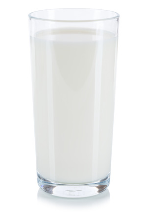 Fresh milk glass isolated on a white background