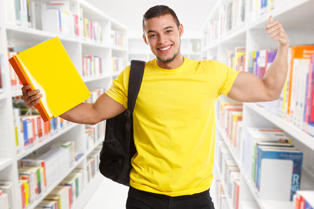 Student success successful strong power library people learning Stockfoto