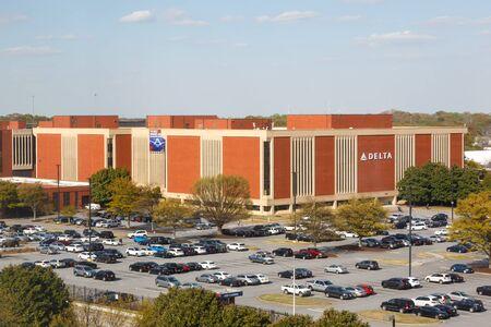 Atlanta, United States – April 2, 2019: Delta Air Lines headquarters at Atlanta Airport (ATL) in the United States.