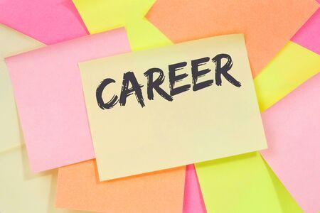 Career opportunities goals success and development business concept note paper notepaper Stok Fotoğraf