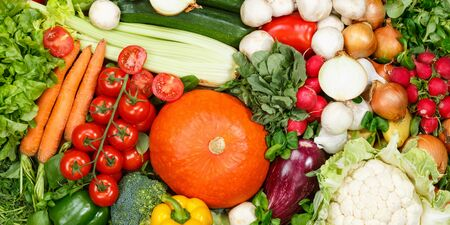 Vegetables collection food background banner tomatoes carrots potatoes fresh vegetable backgrounds 版權商用圖片