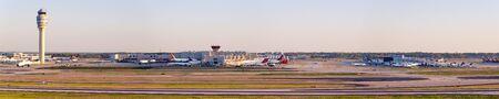 Atlanta, Georgia – April 2, 2019: Overview of Atlanta Airport (ATL) in the United States.