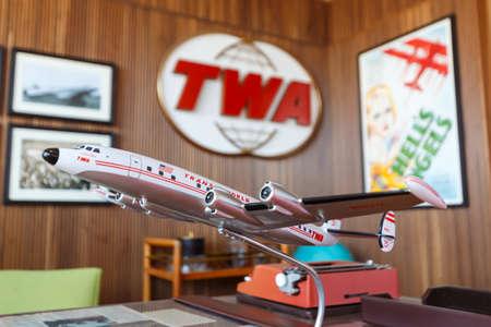 New York, Vereinigte Staaten - 29. Februar 2020: TWA Hotel Terminal auf dem Flughafen New York John F Kennedy (JFK) in den Vereinigten Staaten. 報道画像