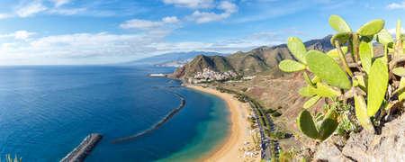 Tenerife beach Teresitas Canary islands sea water travel traveling panorama Atlantic Ocean nature