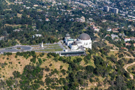 Griffith Observatory Los Angeles city building aerial view photo