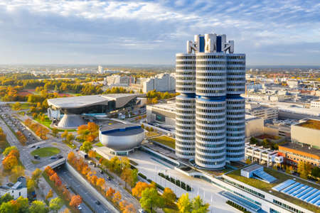 Munich München skyline aerial view photo town building architecture travel in Germany.