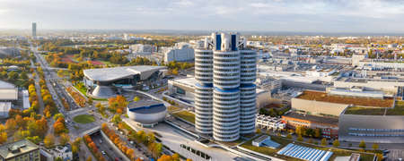 Munich München skyline aerial panoramic view photo town building architecture travel in Germany.