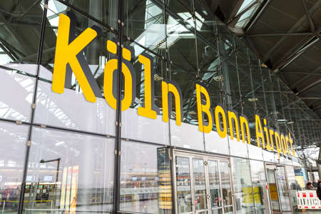 Cologne, Germany - November 2, 2019: Cologne Köln Bonn CGN airport logo in Germany.