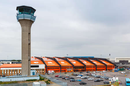 Luton, United Kingdom - July 8, 2019: EasyJet headquarter headquarters HQ at London Luton Airport in the United Kingdom.