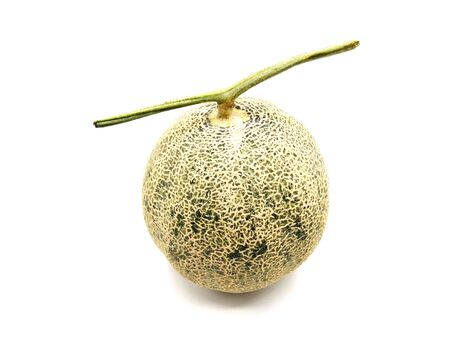 A melon isolated on white background.  版權商用圖片
