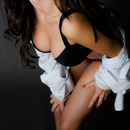 tetas: Detalle perfecto de un cuerpo de mujer Foto de archivo