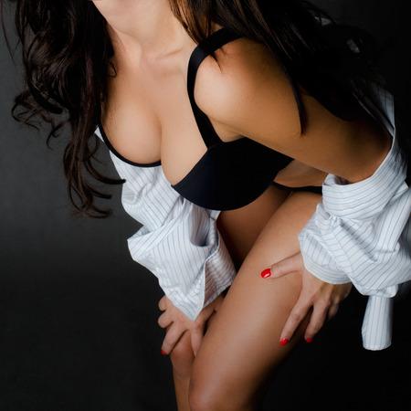 ragazza nuda: Perfetto dettaglio di un corpo di donna Archivio Fotografico