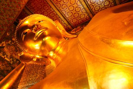 reclining: Reclining Buddha statue