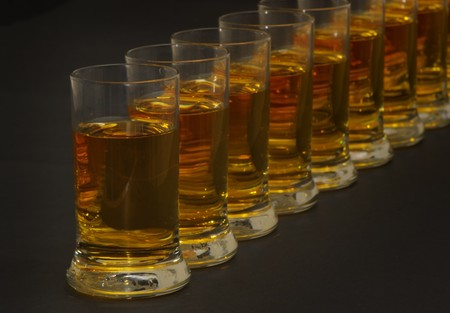A row of tequillas