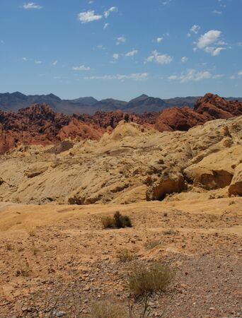 Beautiful red rocks at the valley of fire  in Nevada Stock Photo