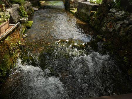 Flow of The Saigai Jizo River 2 写真素材