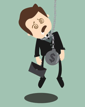 Hung businessman  Stock Vector - 20841630