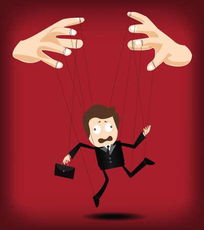 manage: businessman puppet