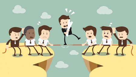 competitions: Concepto de equipo y la competencia en los negocios Vectores