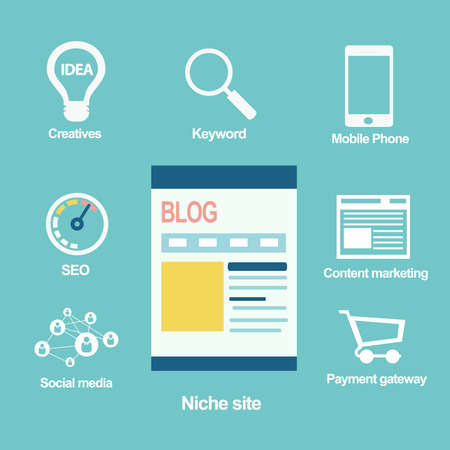 niche: Niche site concept, Blog  Illustration