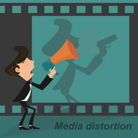 Media distortion