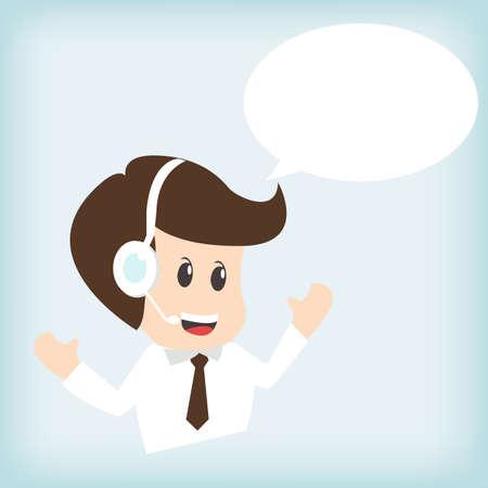representative: customer service operator with headset