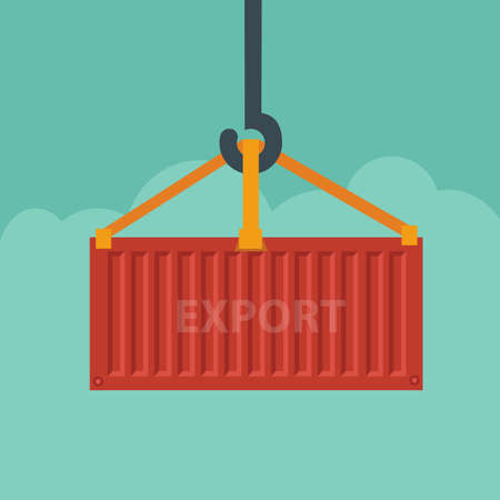 loading dock: Containers export,shipping Illustration