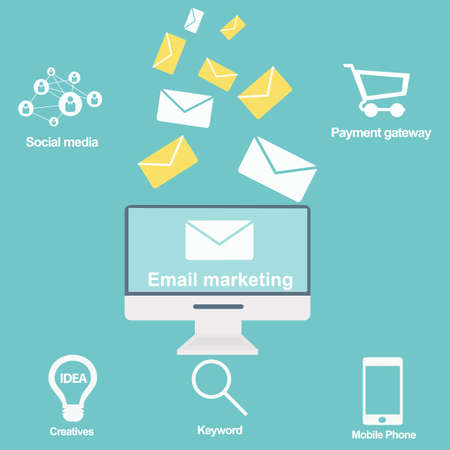 Email marketing and promotion Vector