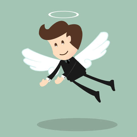 investor: Angel investor ,Businessman with wings