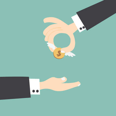 give hand: Giving money ,Angel investor