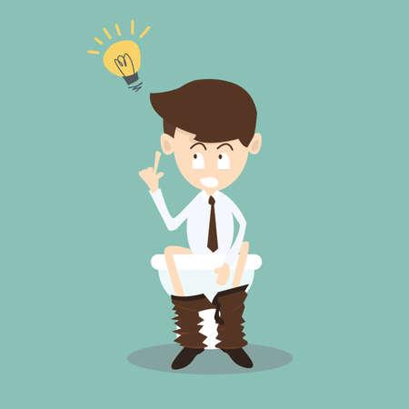 news update: Businessman get idea in toilet,Business concept