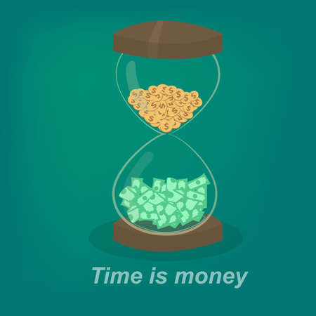 Hourglass and Money Vector