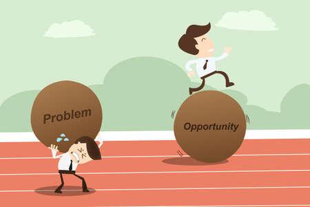 問題の機会、ビジネス コンセプト  イラスト・ベクター素材