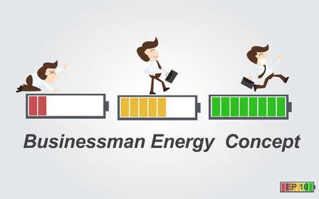 battery icon: Businessman energy concept