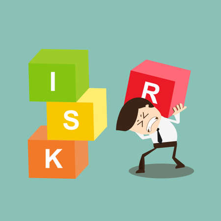 Businessman must bear the risk,Finance risk concept Stock Vector - 27552767
