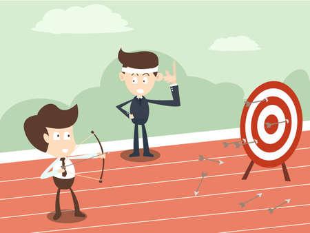 business man coaching concept  Illustration