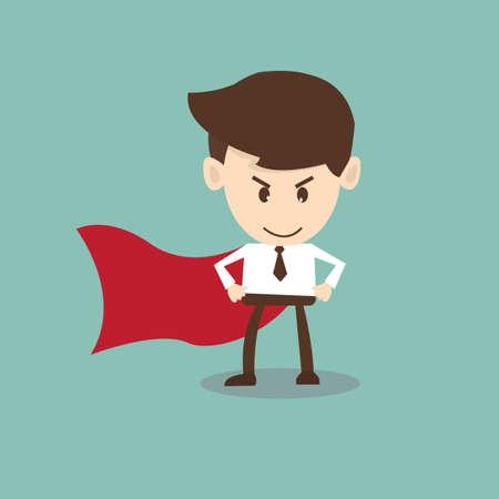 super businessman,super office man Illustration