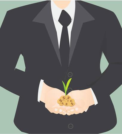 sponsorship: Investing to green business  Illustration