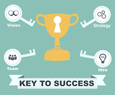 Key to Success in Business Vector