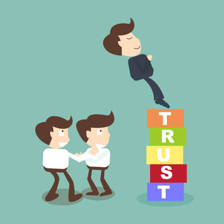 trust people: Trust building business concept