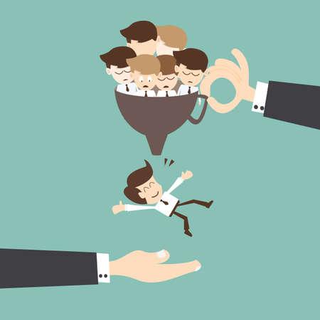 Begrip Recruitment - Job search en carrière begrip keuze werkgelegenheid Vector Illustratie