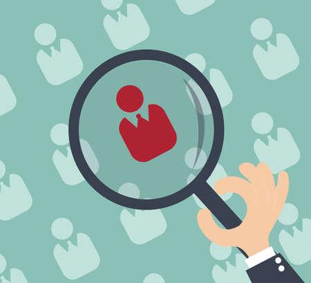 headhunter: Risorse umane - verifica personale e di valutazione centro Vettoriali