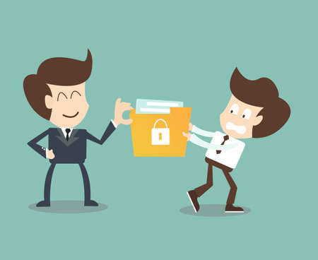Executives steal  secret files containing of employees ,Corporate data leakage