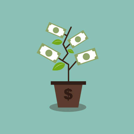 tree money abstract Vector