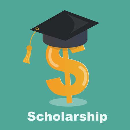 graduacion de universidad: concepto de beca - Ahorro para la educación superior Vectores