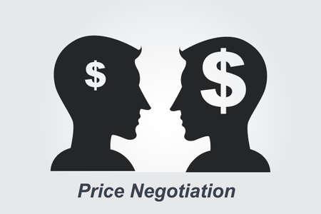Price Negotiation concept